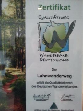 Lahnwanderweg, Wanderbares Deutschland, Plakat